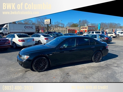 2008 BMW 7 Series for sale at BWK of Columbia in Columbia SC