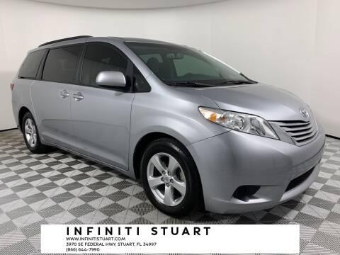 2017 Toyota Sienna for sale at Infiniti Stuart in Stuart FL