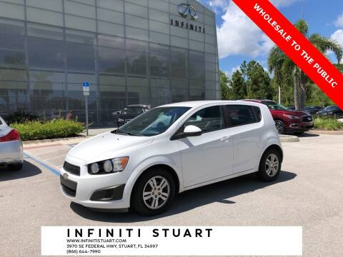 2012 Chevrolet Sonic for sale at Infiniti Stuart in Stuart FL