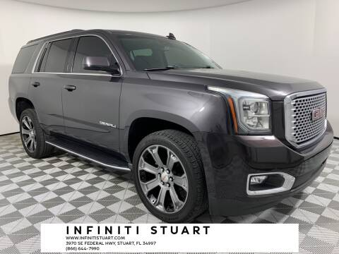 2017 GMC Yukon for sale at Infiniti Stuart in Stuart FL