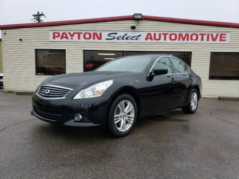 2012 Infiniti G25 Sedan x for sale at Payton Select Automotive Inc. in Heber Springs AR