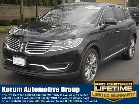 2018 Lincoln MKX for sale in Puyallup, WA