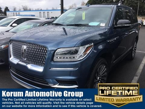 2018 Lincoln Navigator for sale in Puyallup, WA