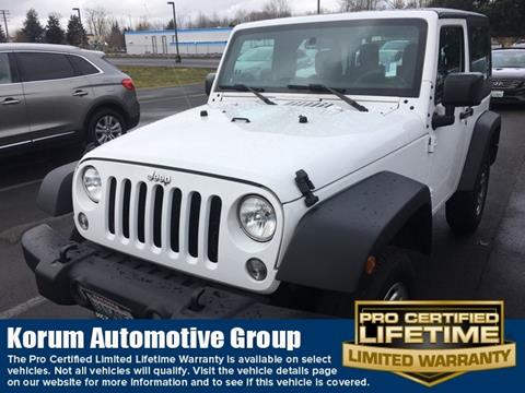 2016 Jeep Wrangler for sale in Puyallup, WA