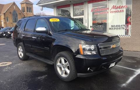 2012 Chevrolet Tahoe for sale at KUHLMAN MOTORS in Maquoketa IA