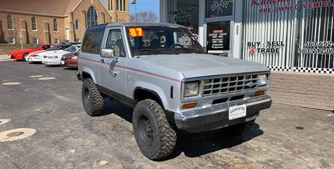 1987 Ford Bronco II for sale at KUHLMAN MOTORS in Maquoketa IA