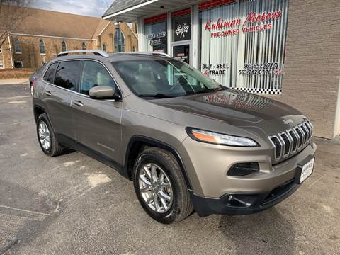 2016 Jeep Cherokee for sale at KUHLMAN MOTORS in Maquoketa IA