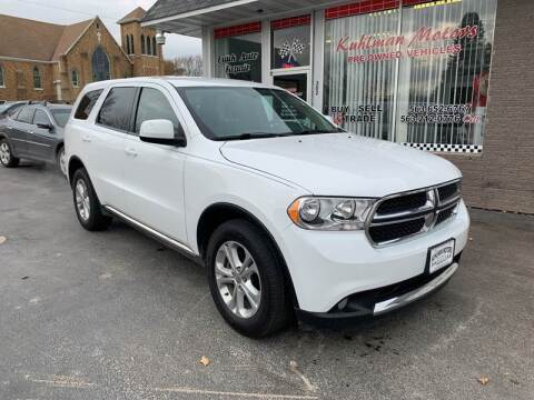 2013 Dodge Durango for sale at KUHLMAN MOTORS in Maquoketa IA