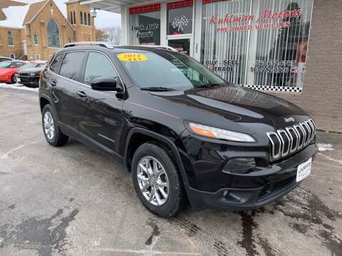2014 Jeep Cherokee for sale at KUHLMAN MOTORS in Maquoketa IA