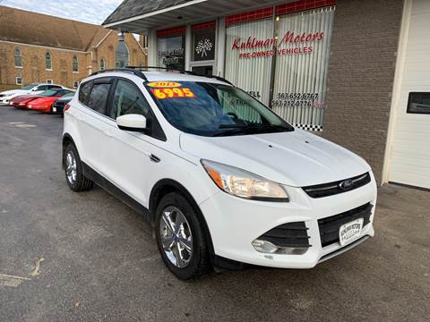 2013 Ford Escape for sale at KUHLMAN MOTORS in Maquoketa IA