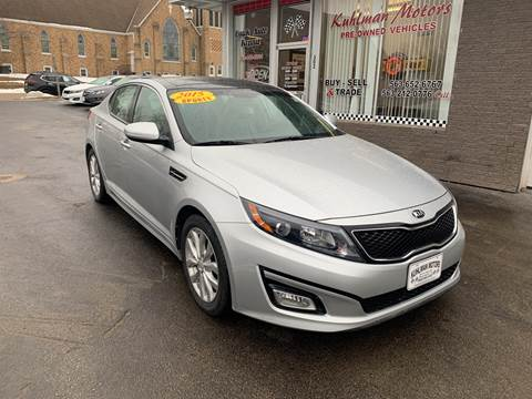 2015 Kia Optima for sale at KUHLMAN MOTORS in Maquoketa IA
