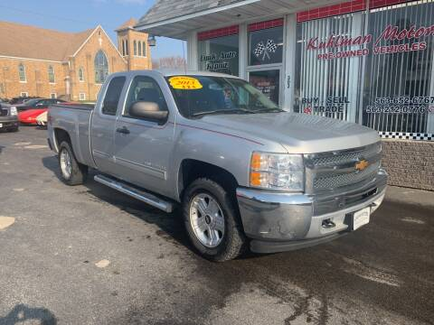 2013 Chevrolet Silverado 1500 for sale at KUHLMAN MOTORS in Maquoketa IA