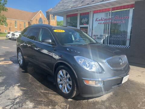 2012 Buick Enclave for sale at KUHLMAN MOTORS in Maquoketa IA