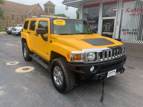 2006 HUMMER H3 for sale at KUHLMAN MOTORS in Maquoketa IA