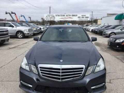 2013 Mercedes-Benz E-Class for sale at Strategic Auto Group in Garland TX