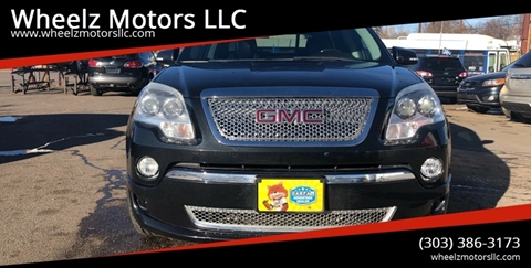 2011 GMC Acadia for sale at Wheelz Motors LLC in Denver CO