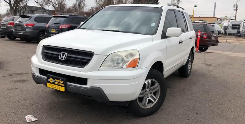 2004 Honda Pilot for sale at Wheelz Motors LLC in Denver CO