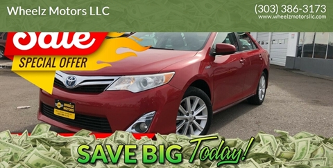 2014 Toyota Camry Hybrid for sale at Wheelz Motors LLC in Denver CO