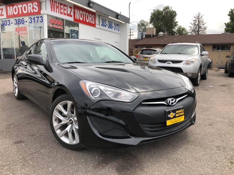 2013 Hyundai Genesis Coupe for sale at Wheelz Motors LLC in Denver CO