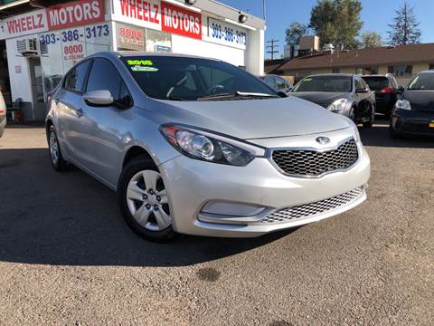 2015 Kia Forte for sale at Wheelz Motors LLC in Denver CO
