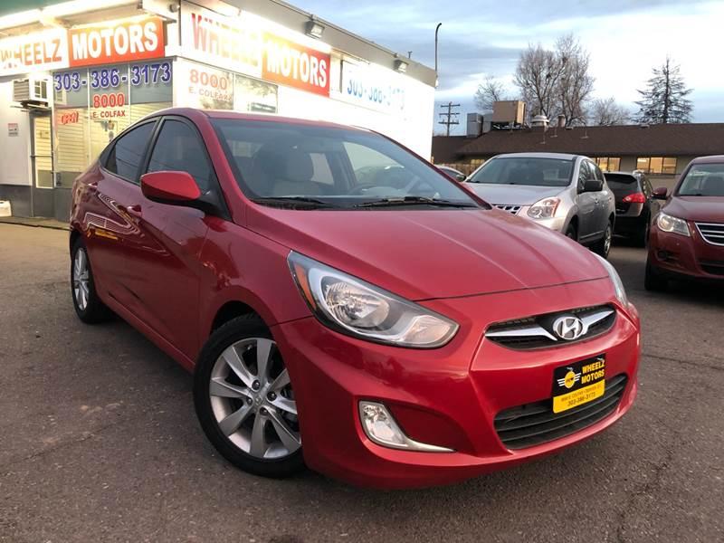 2012 Hyundai Accent for sale at Wheelz Motors LLC in Denver CO