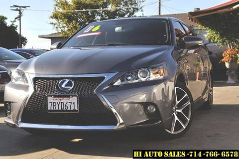 2016 Lexus CT 200h for sale in Westminster, CA