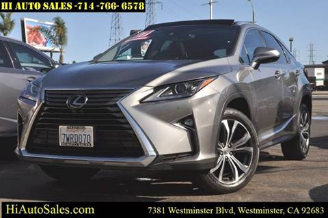 2017 Lexus RX 350 for sale in Westminster, CA