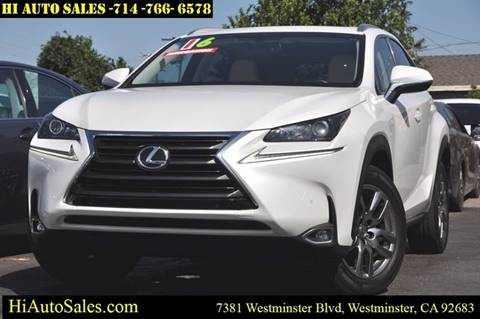 2016 Lexus NX 200t for sale in Westminster, CA
