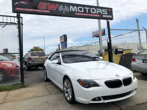 2007 BMW 6 Series for sale at GW MOTORS in Newark NJ