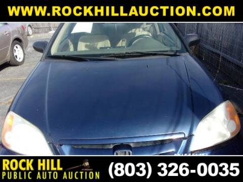 2003 Honda Civic LX for sale at ROCK HILL PUBLIC AUTO AUCTION in Rock Hill SC