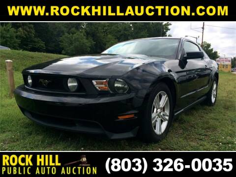 2012 Ford Mustang for sale at ROCK HILL PUBLIC AUTO AUCTION in Rock Hill SC