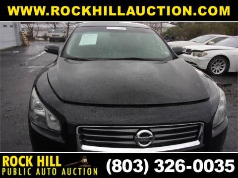 2012 Nissan Maxima for sale at ROCK HILL PUBLIC AUTO AUCTION in Rock Hill SC