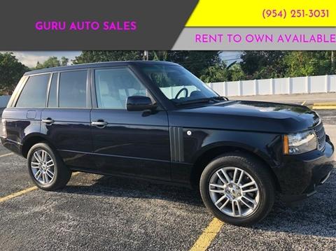 Land Rover Range Rover For Sale In Miramar Fl Guru Auto Sales