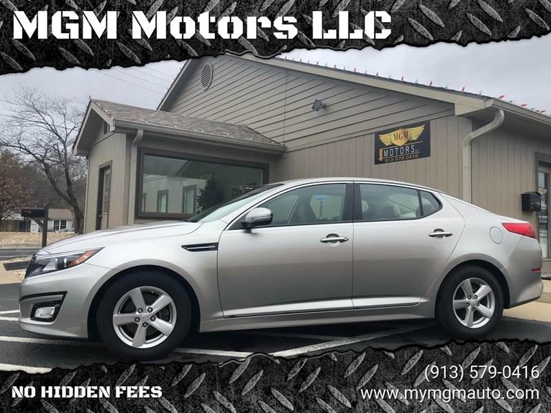 2014 Kia Optima for sale at MGM Motors LLC in De Soto KS