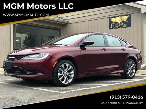 2015 Chrysler 200 for sale at MGM Motors LLC in De Soto KS