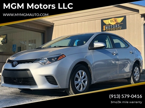 2014 Toyota Corolla for sale at MGM Motors LLC in De Soto KS