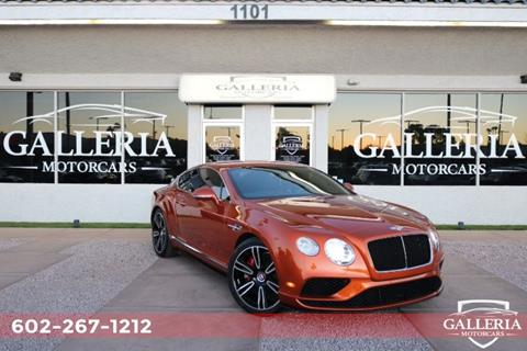 2016 Bentley Continental for sale in Scottsdale, AZ