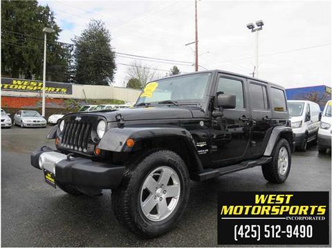 2011 Jeep Wrangler Unlimited for sale in Everett, WA