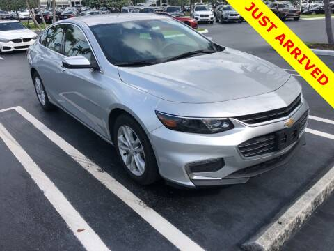 2016 Chevrolet Malibu LT for sale at PALM BEACH AUTO SALES OUTLET in West Palm Beach FL