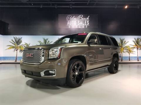 2016 GMC Yukon Denali for sale at PALM BEACH AUTO SALES OUTLET in West Palm Beach FL