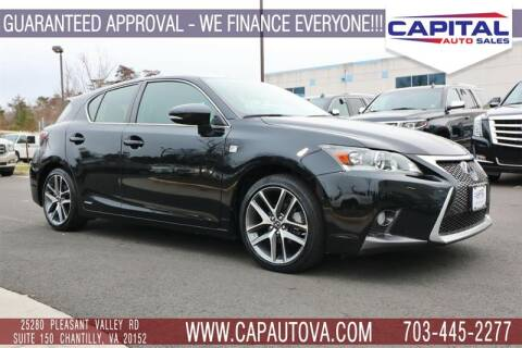 2015 Lexus CT 200h for sale in Chantilly, VA