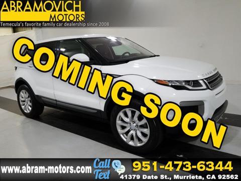 2016 Land Rover Range Rover Evoque for sale in Murrieta, CA