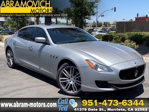 Used Maserati Quattroporte >> Used Maserati Quattroporte For Sale In California Carsforsale Com