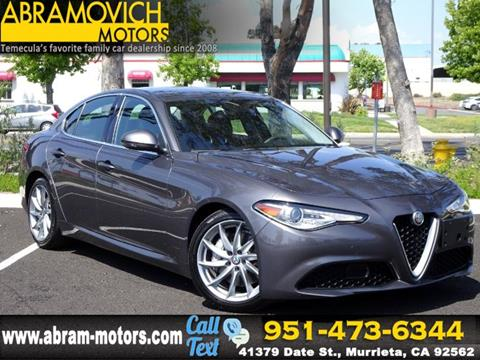 2018 Alfa Romeo Giulia for sale in Murrieta, CA