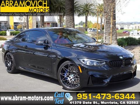 Used Bmw M4 >> 2018 Bmw M4 For Sale In Murrieta Ca