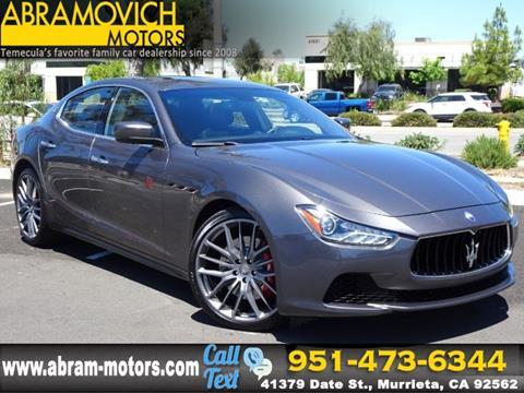 2016 Maserati Ghibli for sale in Murrieta, CA