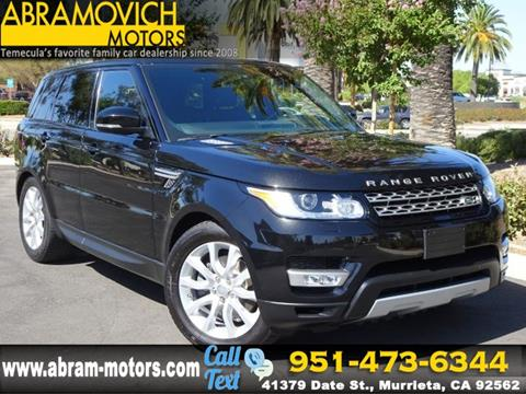 2015 Land Rover Range Rover Sport for sale in Murrieta, CA