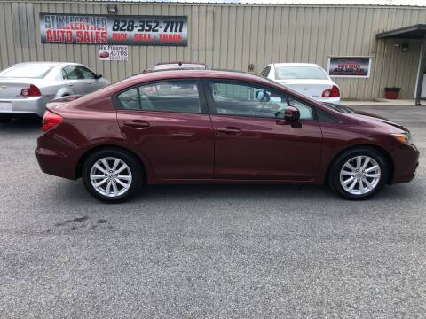 2012 Honda Civic for sale at Stikeleather Auto Sales in Taylorsville NC