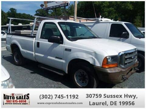 2000 Ford F-250 Super Duty for sale at Express Lube Auto Sales in Laurel DE