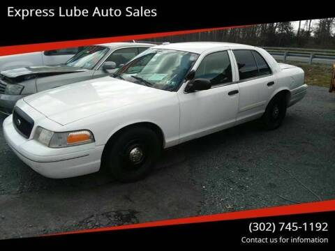2011 Ford Crown Victoria for sale at Express Lube Auto Sales in Laurel DE